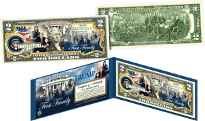 America's First Family Legal Tender $2 Bill The Trump Family - I Love My Freedom