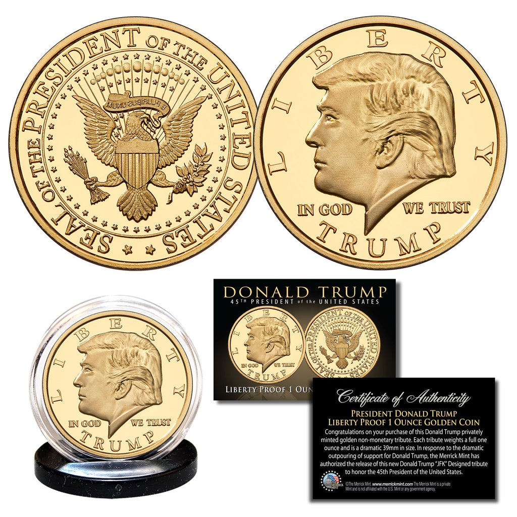 Donald Trump 45th President Liberty Tribute Coin