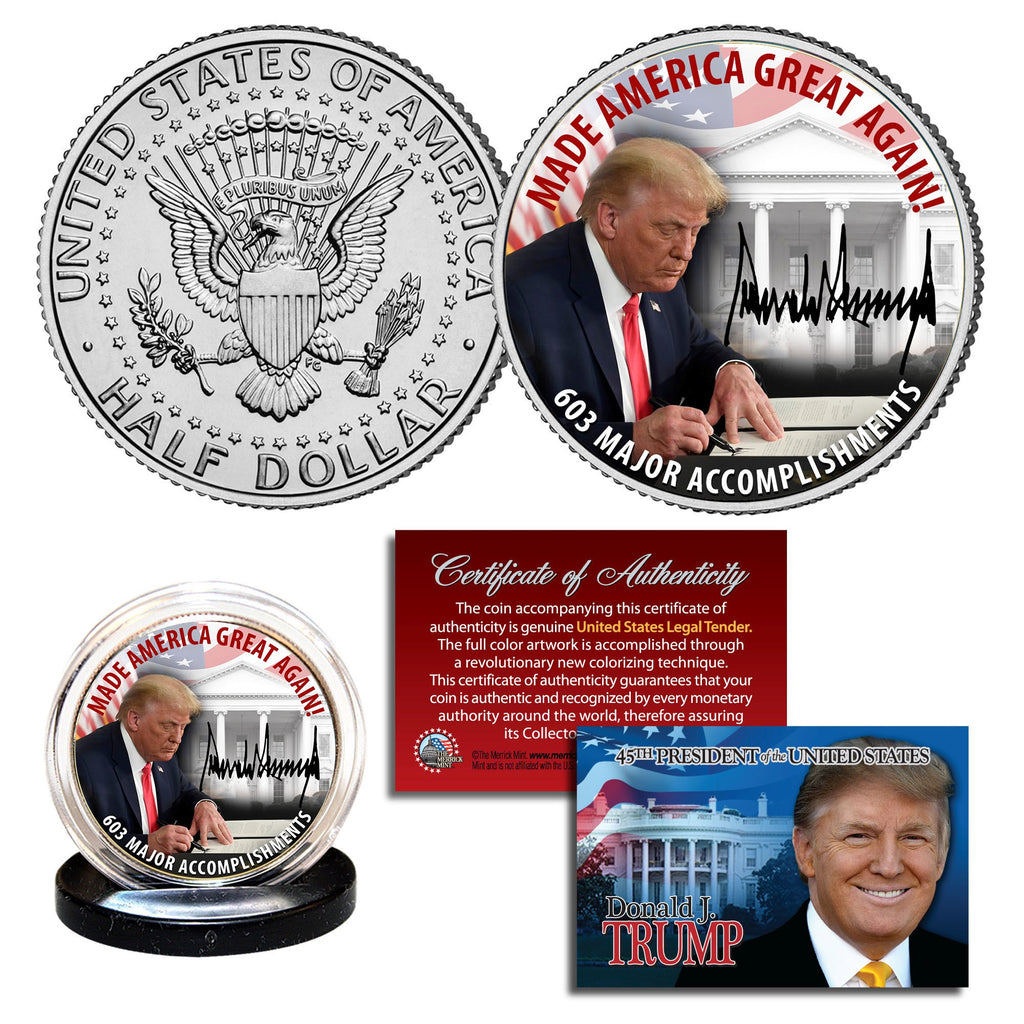 Made America Great Again Trump JFK Half Dollar