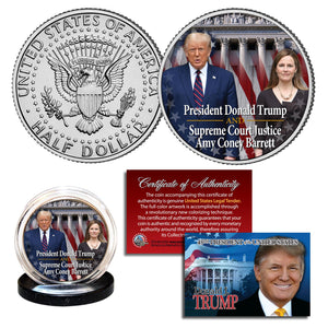 President Trump & Amy Coney Barrett Historical Coin
