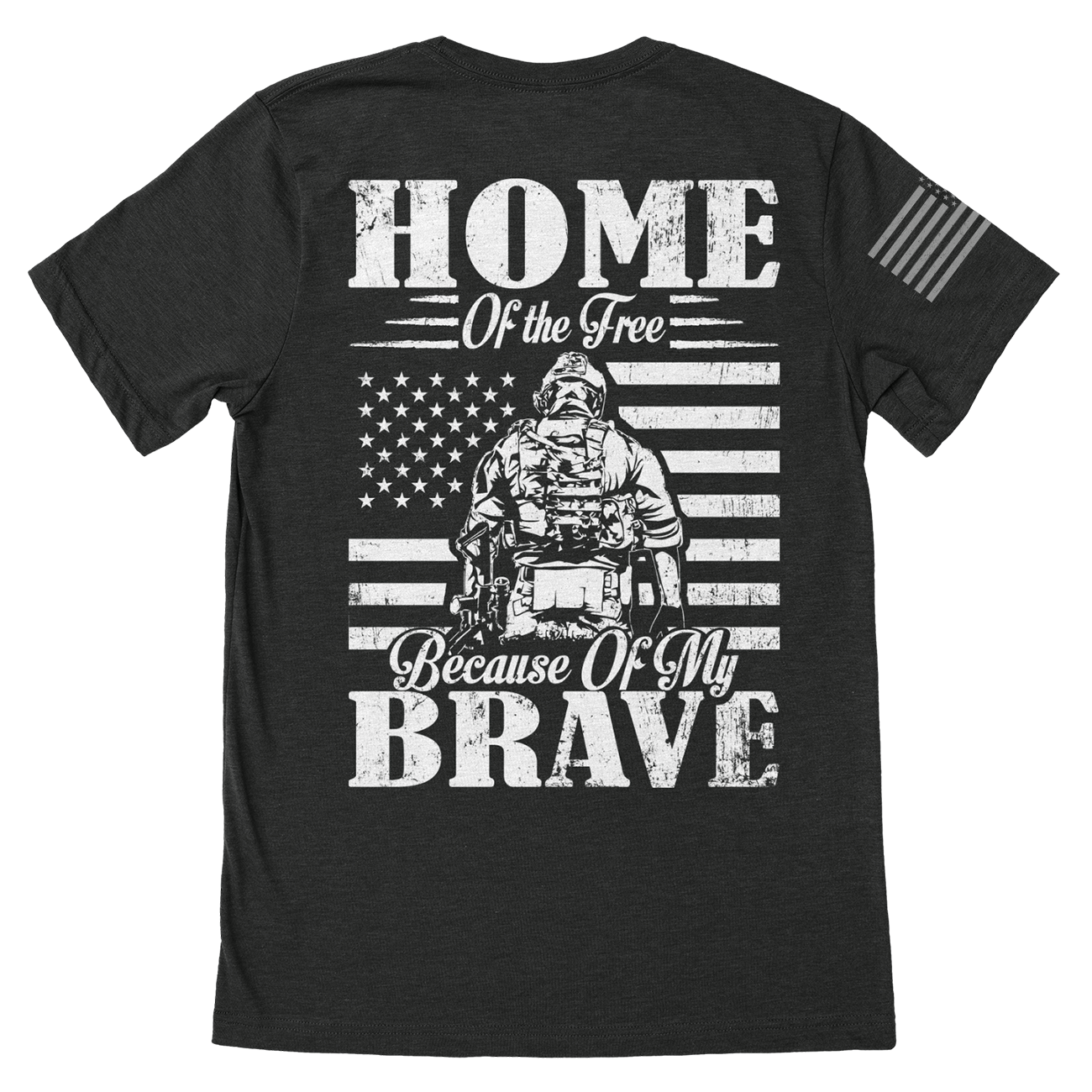 Home Of The Brave Veteran T-Shirt