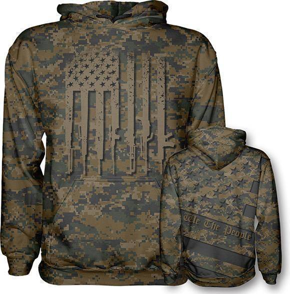 Woodland Digi We The People Hoodie - I Love My Freedom