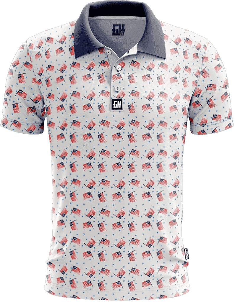 America Vintage Golf Polo - Greater Half