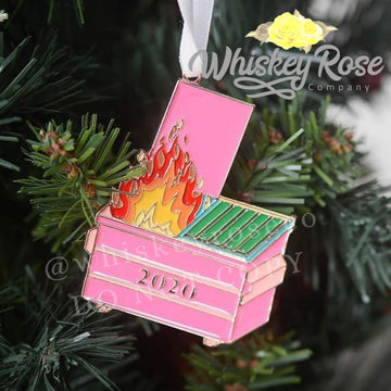 2020 Dumpster Fire Enamel Ornament PREORDER (Mid-November Ship Date)