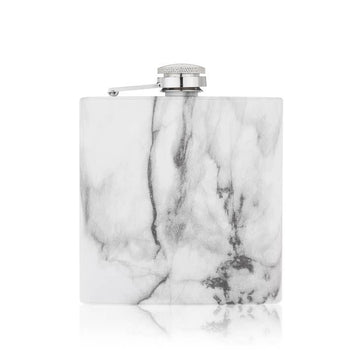 Flask - White Marble with Filling Spout