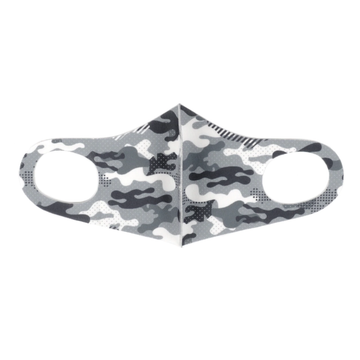 Lightweight Breathable Mask - Grey Camo
