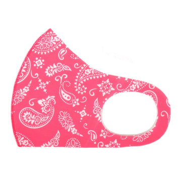 Lightweight Breathable Mask - Fuchsia Paisley