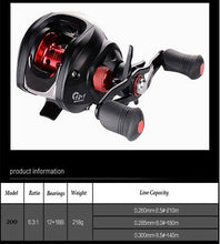 Load image into Gallery viewer, NEW BAIT CASTER FISHING REEL BAIT CASTING REEL KAYAK SHORE BOAT SPECIAL - Baitcaster Reel