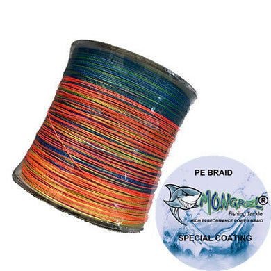 New Braid Fishing Line 10LB 500M Mongrel Fishing Tackle Braid Multi RRP $35 - Mongrel Braid