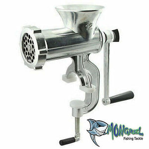 New G CLAMP 12MM HOLE MEAT BURLEY MINCER  BURLEY FISHING BENCH MOUNT GRINDER - Mincers Burley