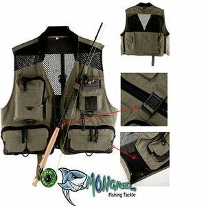 New Fly Fishing Vest Mesh Vest  Light weight Large Classic vest Trout Fishing - Fly fishing