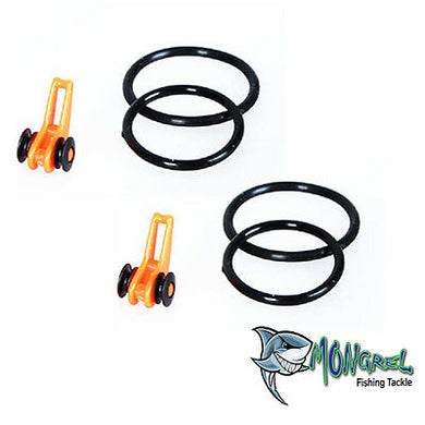 New 2 x Fishing Rod Hook Holder Hook Keeper Fishing Hooks Tenkara Orange - Hook Keeper Orange