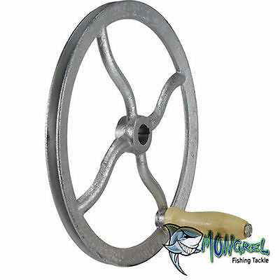 NEW WHEEL WITH V BELT GROOVE & HANDLE SUIT BURLEY MEAT MINCER MM32 GRINDER - Mincer Wheel