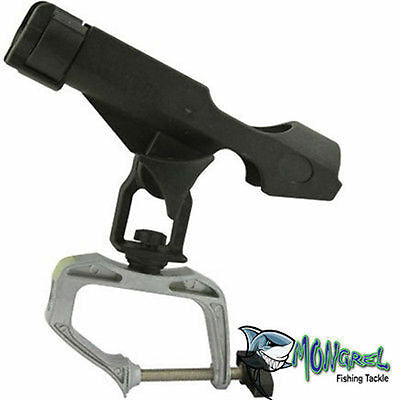 New G CLAMP FISHING ROD HOLDER & MOUNT GAME BOAT TINNY KAYAK MONGREL FISHING - Boat Accessories