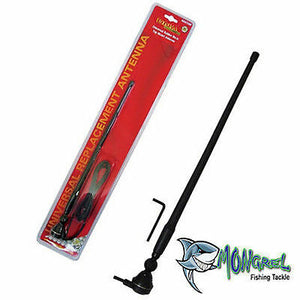 NEW BLACK RUBBER DUCK AM FM RADIO ANTENNA WITH CABLE suits 4x4 CAR TRUCK CARAVAN - Black Rubber Duck Antenna