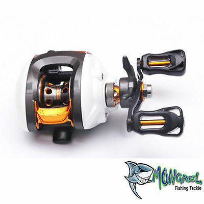 NEW WARRIOR LEFT HAND BAIT CASTER FISHING REEL BAIT CASTING REEL KAYAK FISHING - LH Bait Caster Reel