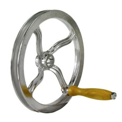 NEW ALUMINIUM WHEEL WITH V BELT GROOVE & HANDLE SUIT BURLEY MEAT MINCER MM22