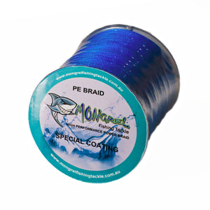 New Braid Fishing Line 10LB 500M Mongrel Fishing Tackle Braid Blue