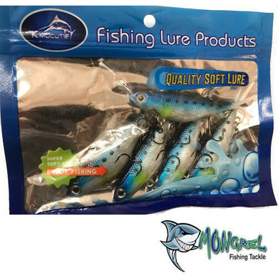New Mullet Transam Lures Soft Plastics 95 mm Vibe Fishing Lure  Barra Bream - Soft Plastic Vibes