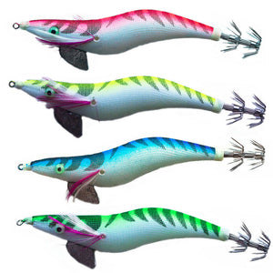 New 4 x Squid Jigs 3.5 Egi Jig Bait Lure Mongrel Jigs Calamari Tackle