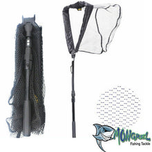 Load image into Gallery viewer, New Landing net 95 cm Telescopic Aluminium Rubber Mesh Boat Kayak Land Based