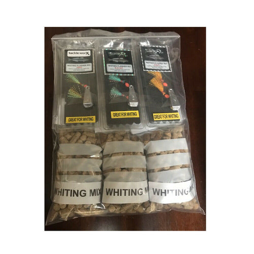New Whiting Rig Fishing Kit Pre Made Supplied With Sinkers and Hurley Burley