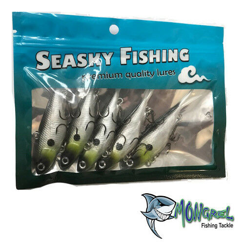New Mullet Transam Lures Soft Plastics 95mm Vibe Fishing Lures  5 Pack Tackle - Soft Plastic Vibes