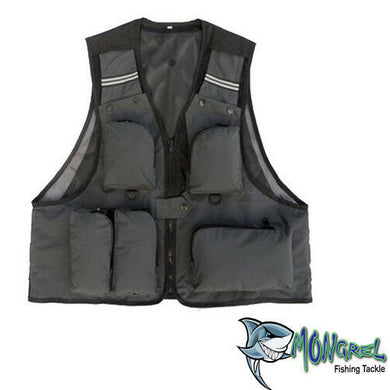 New Fishing Vest Light weight Grey L XL XXL Available Kayak Fly Fishing Boat - Fly Fishing