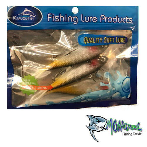New Mullet Transam Lures Soft Plastics 15mm Vibe Fishing Lure  Barra Jew - Soft Plastic Vibes