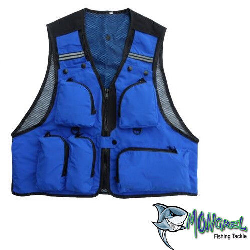 New Fishing Vest Light weight BLUE L XL XXL Available Kayak Fly Fishing Boat - Mongrel Fishing