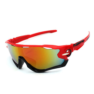 Fulljion 33.3G UV400 Unisex Fishing Sunglasses - Red