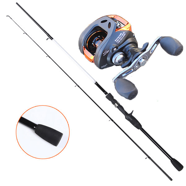 THE REEL The bait caster fishing reel offers anglers a high degree of accuracy, essential when working lures around snag infested areas. It has a low profile design that fits comfortably in your hand enabling you to fish all day long.