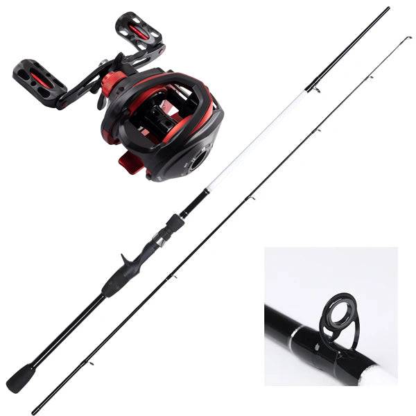 Bait Caster Combo 1.68 Meter - Rod and reel - Rod and Reel spooled with Braid