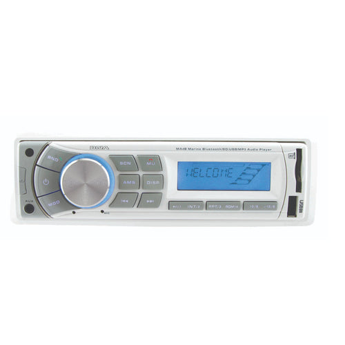 Marine Bluetooth USB/SD MP3 Player with AM/FM tuner and AUX audio input