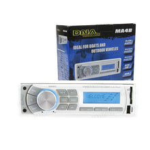 Load image into Gallery viewer, DNA AUDIO Marine Bluetooth USB/SD MP3 Player with AM/FM tuner and AUX audio input XXX
