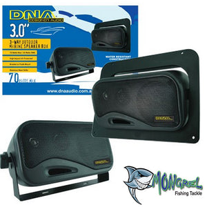 NEW MARINE SPEAKER BOX BLACK 1 PAIR BRAND NEW BOX SPEAKERS Car Caravan 4WD - Box Speakers