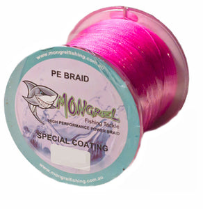 New Braid Fishing Line 500M Mongrel Fishing Tackle Braid Pink