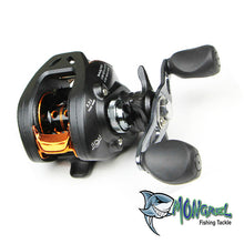 Load image into Gallery viewer, THE REEL The bait caster fishing reel offers anglers a high degree of accuracy, essential when working lures around snag infested areas. It has a low profile design that fits comfortably in your hand enabling you to fish all day long.