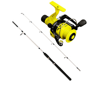 Great two Piece 1.8 Meter spinning rod and reel  This little all round fishing rod will give you hours of pleasure catching a wide variety of species including bream, whiting, carp and squid.