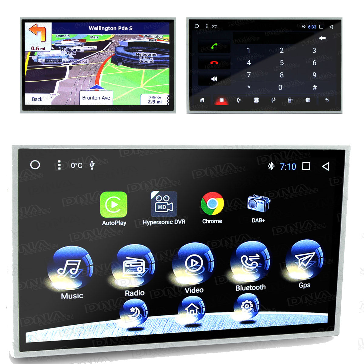 Kayhan 8 Inch Screen & DVD Head Unit To Suit Ford Falcon FG Series 2