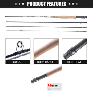New Fly Fishing Rod 5-6 4 Piece 9 Foot Fishing Rod #5/6