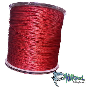 New Braid Fishing Line 500M Mongrel Fishing Tackle Braid Red