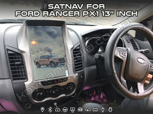 Load image into Gallery viewer, SatNav for Ford Ranger PX1 features a stunning 13″ inch ultra HD capacitive multipoint touch screen, this unit comes with ready plugs for your vehicle harness to just plug it and play.