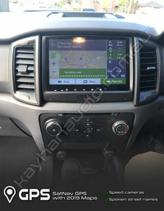 This SatNav for Ford Ranger PX2 2015-2018 featured with a stunning 9.2″ inch ultra HD capacitive multipoint touch screen, comes with ready plugs for your vehicle harness to just plug it and play.