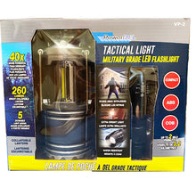 Load image into Gallery viewer, Military Grade LED Flash Light and COB Colabsible Lantern Value Package