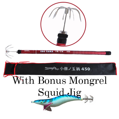 Heavy Duty Squid Gaff with Bonus Mongrel Jig