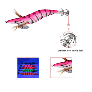 New 10 Squid Jigs 3.5 Egi Jig Bait Lure 10 Pack With Tackle Bag Jig Glow 10 Pack