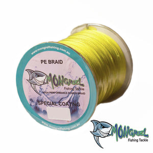 New Braid Fishing Line 10LB 500M Mongrel Fishing Tackle Braid Yellow