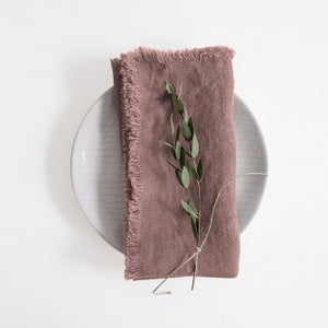 Ashes of Roses Washed Linen Napkins