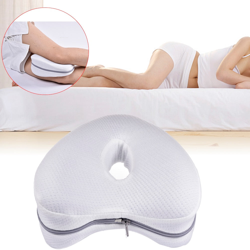 Heart-Shaped Knee Memory Pillow With Washable Cover
